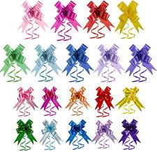 360 Pieces Christmas Ribbon Pull Bow Present Basket Pull Bows Knot Ribbon String