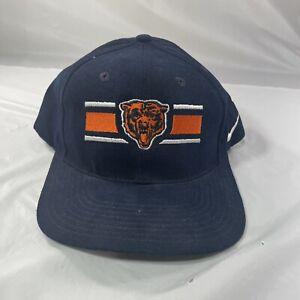 Vintage Chicago Bears Hat NFL Pro Line Authentic Snap Back Blue Nike