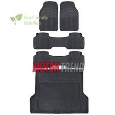 Odorless HD Eco-Free Rubber Floor Mats Van SUV Truck w/ Cargo Liner Black