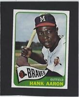 1965 HANK AARON TOPPS # 170 BRAVES RP HALL OF FAMER-MVP-HR CHAMPION