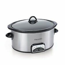 Crock-Pot 7-Quart Smart-Pot Slow Cooker, Brushed Stainless Steel Model Blz-8425
