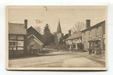 Dilwyn, Herefordshire - road, shop, houses, church - old postcard