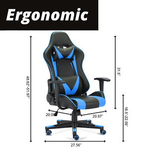 Office Gaming Chair Computer Gamer Chairs PU Racer Ergonomic Seating Stream Desk