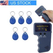 USA 125KHz Handheld RFID ID Card Copier Key Reader Writer Duplicator + 5PCS Tags