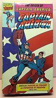 Captain America - The Origin of Captain America VHS Marvel Video! Cat. #1207