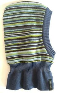Balaclava baby 6-12month cotton blend stripe helmet