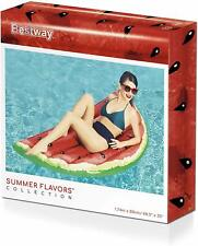 Bestway Inflatable Summer Fruit Lounger Watermelon Lilo Fun Kids Adult Float