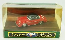 Corgi Classic Models Red Porsche 356B Model Car 1:43 Diecast New in Box