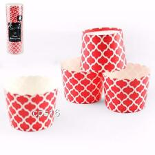 25 Red Lattice Baking Cups...Cupcake Cases...Patty Pans...Desserts...Cake