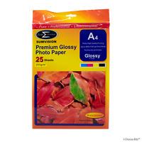 A4 25 Feuilles de Papier Photo Glacé Pack Premium Professionnel 210x297mm 200gm
