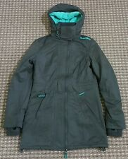 SUPERDRY WOMEN'S GREY MICROFIBRE WINDPARKA JACKET, SIZE SMALL, GOOD CONDITION
