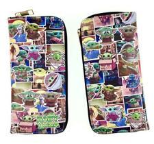 green yoda star wars purse wallet card bag handbag long PU wallets model