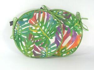 """Set of 2 Tropical Leaves 12"""" 14"""" 16"""" Bistro/Bar/Circular/Patio/Round Seat Pads"""