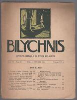 RIVISTA MENSILE DI STUDI RELIGIOSI-BILYCHNIS OTTOBRE 1920 VOL. XVI-L2762