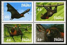 PALAU, SCOTT # 122 - 125, BLOCK OF 4, FRUIT BATS, MINT NEVER HINGED, 1987