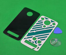 New Black Glass Battery Back Door Cover For Motorola Moto Z Play Droid XT1635
