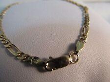14k Gold Petite Figaro Bracelet-  7in.L.  3mm   SALE-SAVE $450.   #758
