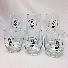 Vintage VTG Original Playboy Key Club 3 Glass Tumblers and 3 Whiskey Glasses Set