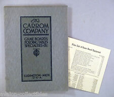 Carrom CATALOG - 1918  w/Price List ~~ game boards, parlor pool & billiard table