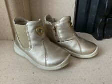 Ecco Girls Gold Boots Size 7 (24)