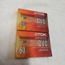 New! Two sealed Tdk Dvc 60 min Mini Digital Video Camcorder Cassette blank tape