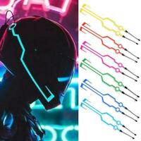 Motorcycle Helmet LED Light Kit Night Riding Flashing Light Stripe Signal B Top