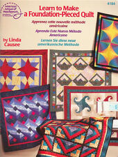 Learn to Make FOUNDATION PIECED Quilting Quilt Pattern Book ~ New