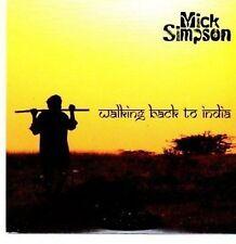 (BN182) Mick Simpson, Walking Back to India- 2010 DJ CD