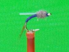 Johnny Flash  Midge Emerger Fly (sz.22 Purple with Flash Wing) HOT PATTERN