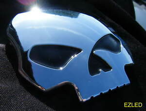 CAR CHROME EMBLEM SKULL BADGE BRAND NEW
