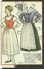 Female Costume Lovangers Sweden  Vintage Swedish Paper Doll