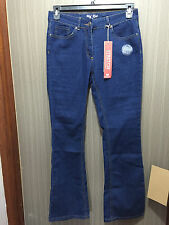BNWT Ladies Sz 10 Rivers Brand Stretch Mid Wash Blue Denim Bootleg Style Jeans