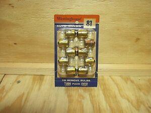 Westinghouse # 81 6 volt dome light / trunk bulbs Ford Packard Hudson 10 ea NOS!