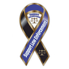 Magnetic Bumper Sticker - Law Enforcement Ribbon Magnet - Cops, Police, Sheriff