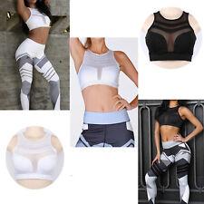 UK Women Running Jogging Sports Bra Yoga Gym Workout Vest Crop Tops