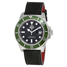 Shield Cousteau Black Dial Green Bezel Swiss Quartz Mens Watch SH0807