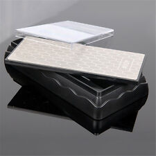 Double Sided Diamond Sharpening Stone Grind Kitchen  Sharpener Whetstone