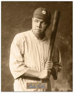 BABE RUTH 1920 Baseball Legend 8x10 Photograph Autograph Reprint
