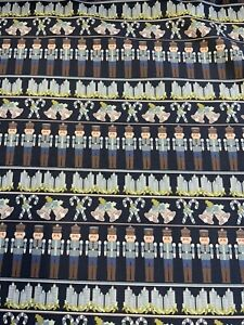 Fabric Freedom Nutcracker Soldiers Candles Bells Cotton Craft By The Metre