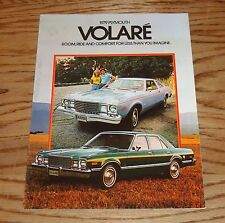 Original 1979 Plymouth Volare Sales Brochure 79