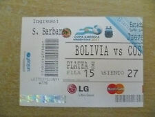 Org* Tickets- Copa America Argentina 2011- BOLIVIA v COSTA RICA