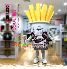 Parade French Fries Mascot Costume Restaurant Outfit Fast Food Outfit Adversting