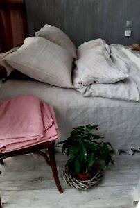 Linen duvet cover and two pillowcases queen king linen bedding linen set natural