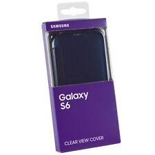 Véritable Samsung Transparent Folio Étui Housse pour Samsung Galaxy S6 - Noir