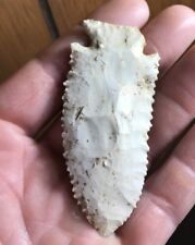 """MLC s1110 3"""" Archaic Stilwell Arrowhead Pike co Illinois Pa museum collection"""