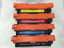 4-pack HP Color Laserjet CM3530 CP3525n CP3525X CE250A 504A Toner FULL SET