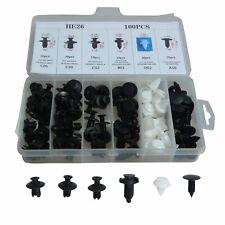 100Pcs 6 Size Clip Trim Car Push Pin Rivet Bumper Door Panel Retainer Assortment