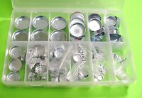 Fit Ford 124 Assorted Engine Freeze Expansion Plugs Zinc Plated Steel Engine Kit