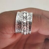 Solid 925 Sterling Silver Band Spinner Ring Jewelry Handmade All Size c-020