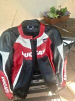 Dainese Ducati Corse Perforated Leather Jacket Size 50